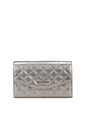 Love Moschino: clutches - Metallic quilted clutch
