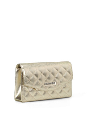 Love Moschino: clutches online - Gold-tone quilted clutch