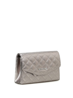 Love Moschino: clutches online - Metallic quilted clutch