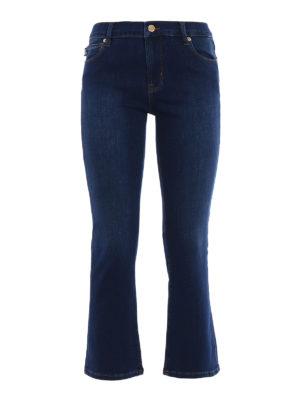 Love Moschino: flared jeans - Stretch denim flared crop jeans