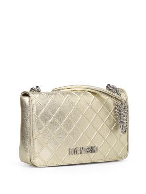 LOVE MOSCHINO: borse a spalla online - Borsa in similpelle trapuntata oro