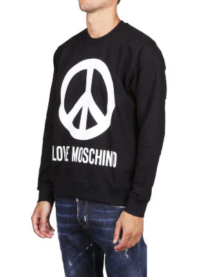 LOVE MOSCHINO: Felpe e maglie online - Felpa nera con logo stampato