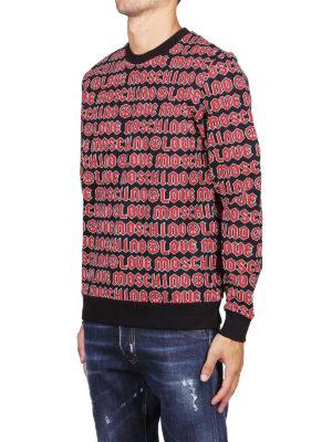 LOVE MOSCHINO: Felpe e maglie online - Felpa con logo rossa