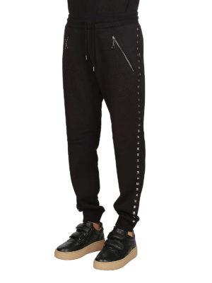 LOVE MOSCHINO: pantaloni sport online - Pantaloni da tuta con borchie