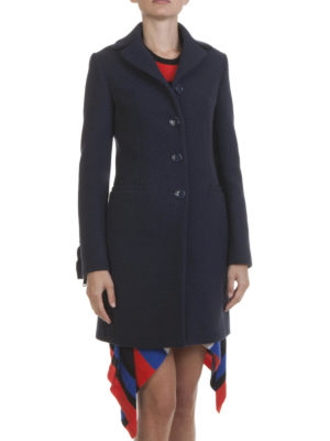 Love Moschino: short coats online - Wool blend single breasted coat