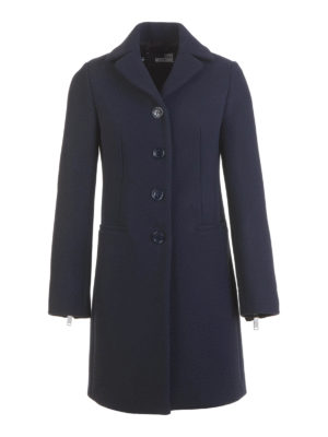 Love Moschino: short coats - Wool blend single breasted coat