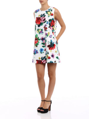 Love Moschino: short dresses online - Floral pixel printed short dress