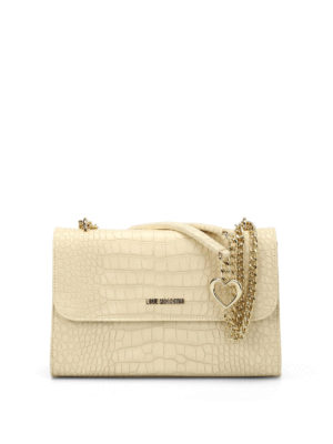 Love Moschino: shoulder bags - Croco print faux leather bag