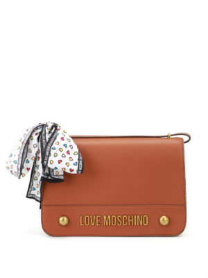 Love Moschino: shoulder bags - Fake leather bow detailed bag