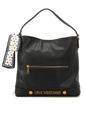 Love Moschino: shoulder bags - Fake leather logo shoulder bag