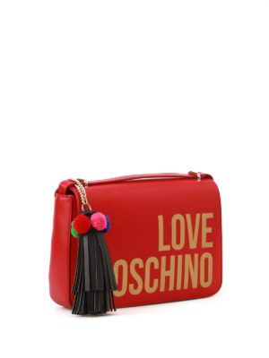 Love Moschino: shoulder bags online - Fake leather logo bag