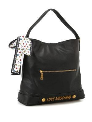 Love Moschino: shoulder bags online - Fake leather logo shoulder bag