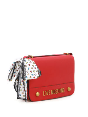 Love Moschino: shoulder bags online - Scarf detailed fake leather bag