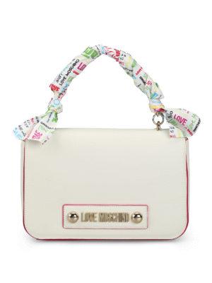 47e3e5499b LOVE MOSCHINO: borse a spalla - Borsa bianca in ecopelle con foulard