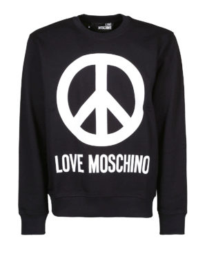 LOVE MOSCHINO: Felpe e maglie - Felpa nera con logo stampato