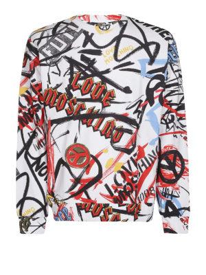 LOVE MOSCHINO: Felpe e maglie - Felpa stampa graffiti
