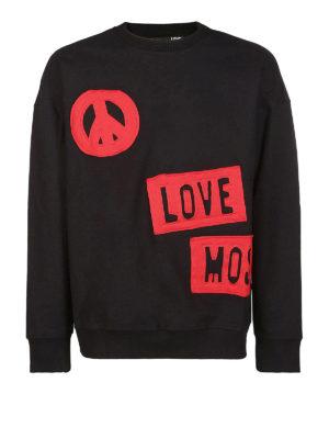 LOVE MOSCHINO: Felpe e maglie - Felpa con logo stampato