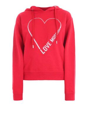 2abd6a587e LOVE MOSCHINO: Felpe e maglie - Felpa con cappuccio e logo Outline Heart