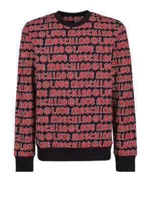 LOVE MOSCHINO: Felpe e maglie - Felpa con logo rossa