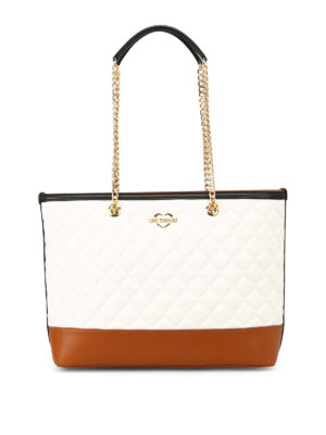 LOVE MOSCHINO: shopper - Shopper in similpelle trapuntata