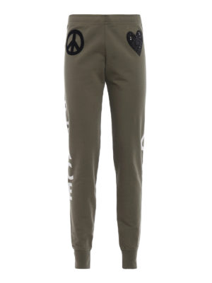 LOVE MOSCHINO: pantaloni sport - Pantaloni da tuta stampa Peace and Love