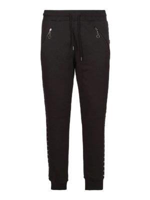 LOVE MOSCHINO: pantaloni sport - Pantaloni da tuta con borchie