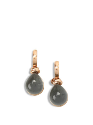 Lucos: Earrings - Agate drop earrings