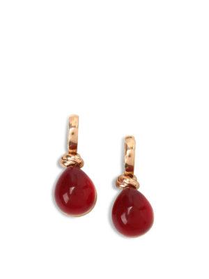 Lucos: Earrings - Agate drop earrings