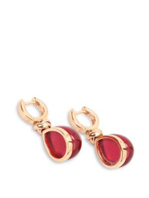 Lucos: Earrings online - Agate drop earrings