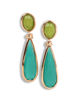 Lucos: Earrings - Two-tone agate earrings