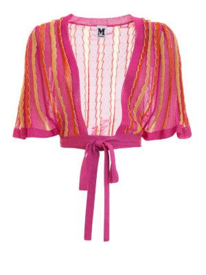 M Missoni: cardigans - Lurex trimmed striped bolero