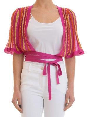 M Missoni: cardigans online - Lurex trimmed striped bolero