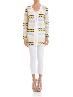 M Missoni: cardigans online - Open front wave patterned cardigan