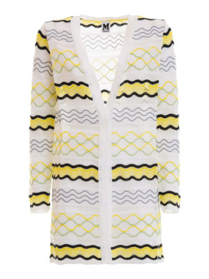 M Missoni: cardigans - Open front wave patterned cardigan