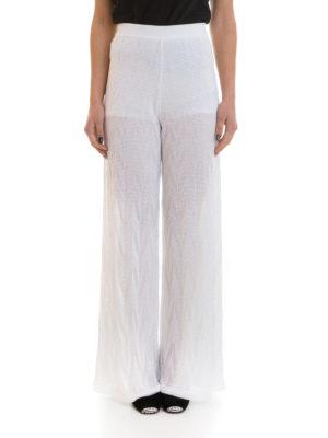M Missoni: casual trousers online - Zig zag cotton blend trousers