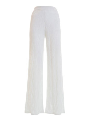 M Missoni: casual trousers - Zig zag cotton blend trousers