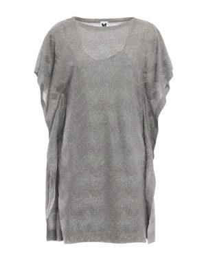 M Missoni: cocktail dresses - Chevron pattern jersey tunic dress