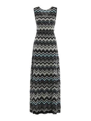 M Missoni: evening dresses - Lurex detailed chevron maxi dress