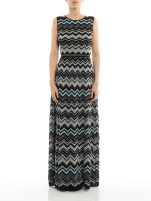 M Missoni: evening dresses online - Lurex detailed chevron maxi dress