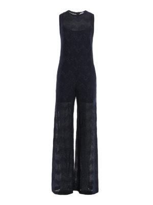 M Missoni: jumpsuits - Chevron pattern jersey jumpsuit