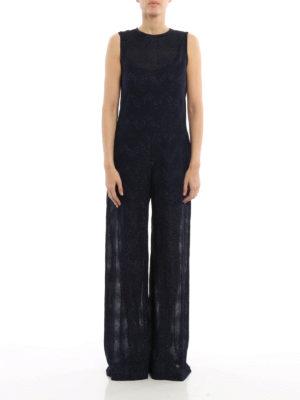 M Missoni: jumpsuits online - Chevron pattern jersey jumpsuit