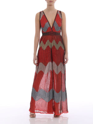 M Missoni: jumpsuits online - Wave patterned flared jumpsuit
