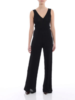 M Missoni: jumpsuits online - Wave patterned knit jumpsuit