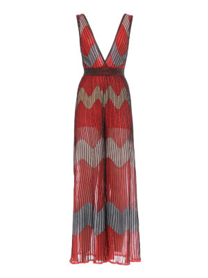 M Missoni: jumpsuits - Wave patterned flared jumpsuit