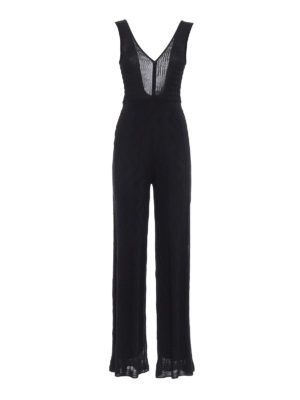 M Missoni: jumpsuits - Wave patterned knit jumpsuit