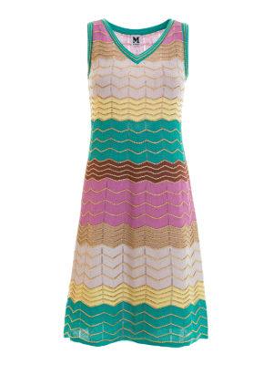 M Missoni: knee length dresses - Chevron patterned flared dress