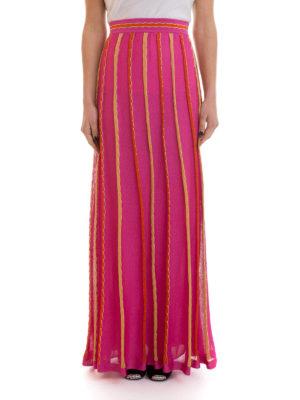 M Missoni: Long skirts online - Lurex trimmed striped long skirt