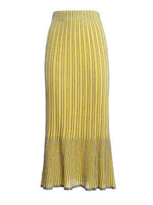 M MISSONI: Long skirts - Striped lurex-knit skirt