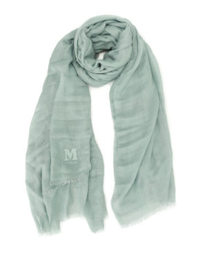 M Missoni: scarves - Cashmere blend embroidered scarf