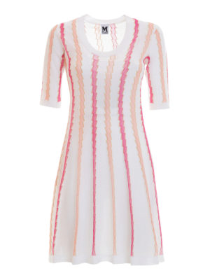M Missoni: short dresses - Flared crewneck dress